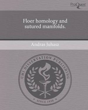 Floer Homology and Sutured Manifolds.