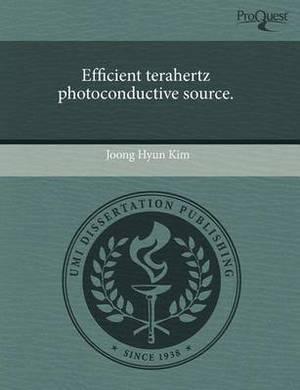Efficient Terahertz Photoconductive Source