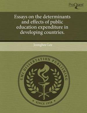Essays on the Determinants and Effects of Public Education Expenditure in Developing Countries