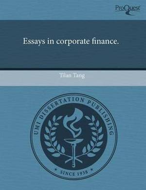 Essays in Corporate Finance
