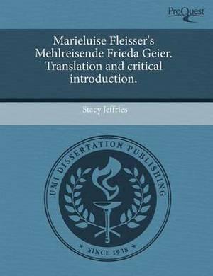 Marieluise Fleisser's Mehlreisende Frieda Geier