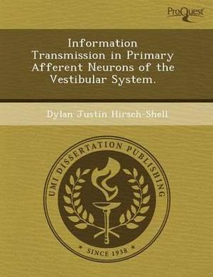 Information Transmission in Primary Afferent Neurons of the Vestibular System