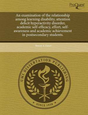 An Examination of the Relationship Among Learning Disability