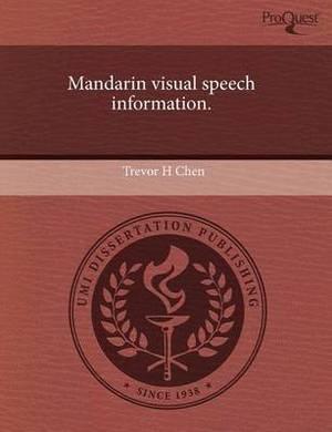 Mandarin Visual Speech Information