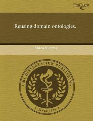Reusing Domain Ontologies