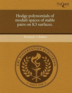 Hodge Polynomials of Moduli Spaces of Stable Pairs on K3 Surfaces.