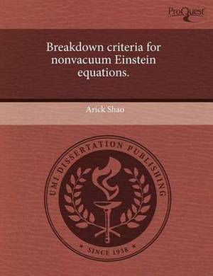 Breakdown Criteria for Nonvacuum Einstein Equations.