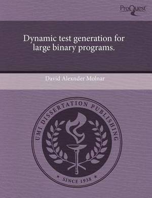 Dynamic Test Generation for Large Binary Programs