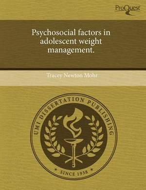Psychosocial Factors in Adolescent Weight Management