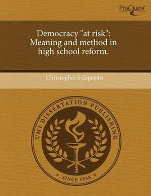 Democracy at Risk: Meaning and Method in High School Reform