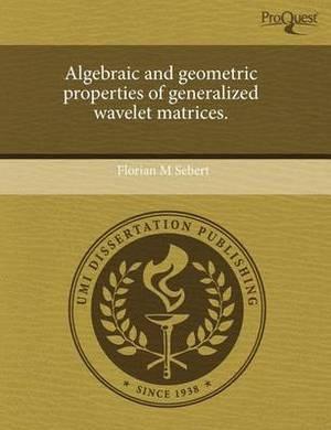 Algebraic and Geometric Properties of Generalized Wavelet Matrices