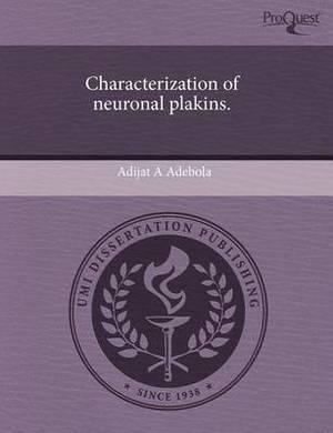 Characterization of Neuronal Plakins.