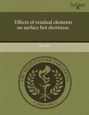 Effects of Residual Elements on Surface Hot Shortness