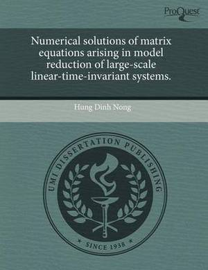 Numerical Solutions of Matrix Equations Arising in Model Reduction of Large-Scale Linear-Time-Invariant Systems