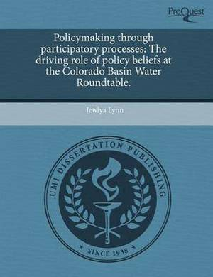 Policymaking Through Participatory Processes: The Driving Role of Policy Beliefs at the Colorado Basin Water Roundtable