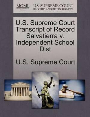U.S. Supreme Court Transcript of Record Salvatierra V. Independent School Dist