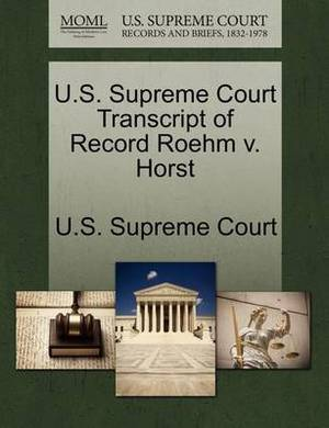 U.S. Supreme Court Transcript of Record Roehm V. Horst