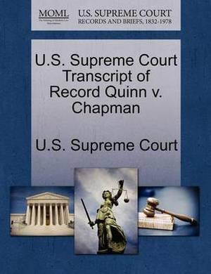 U.S. Supreme Court Transcript of Record Quinn V. Chapman