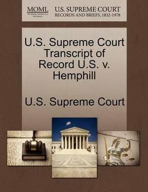 U.S. Supreme Court Transcript of Record U.S. V. Hemphill