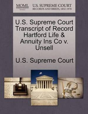 U.S. Supreme Court Transcript of Record Hartford Life & Annuity Ins Co V. Unsell