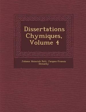 Dissertations Chymiques, Volume 4