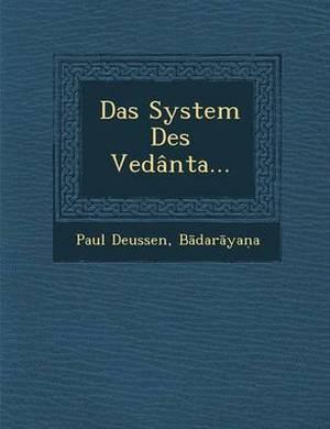 Das System Des Vedanta...