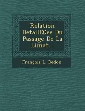 Relation Detaill Ee Du Passage de La Limat...