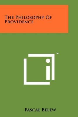 The Philosophy of Providence