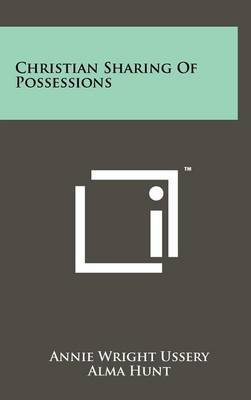 Christian Sharing of Possessions