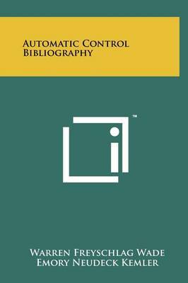Automatic Control Bibliography