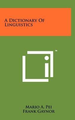 A Dictionary of Linguistics