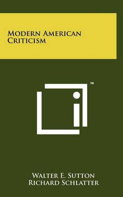 Modern American Criticism