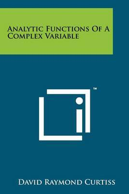 Analytic Functions of a Complex Variable