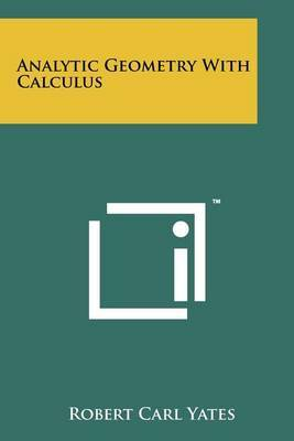 Analytic Geometry with Calculus