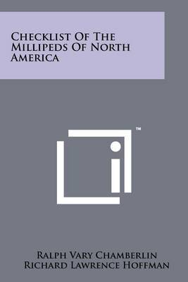Checklist of the Millipeds of North America