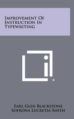 Improvement of Instruction in Typewriting