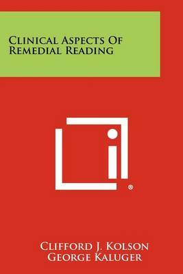 Clinical Aspects of Remedial Reading