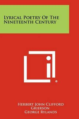 Lyrical Poetry of the Nineteenth Century