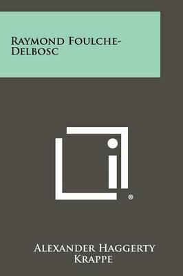 Raymond Foulche-Delbosc
