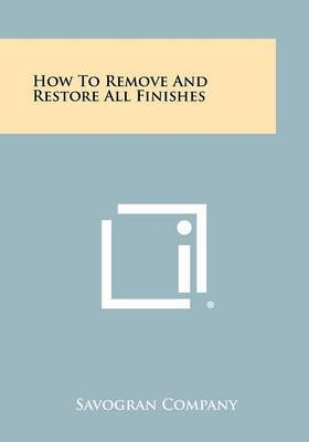 How to Remove and Restore All Finishes