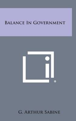 Balance in Government