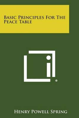 Basic Principles for the Peace Table