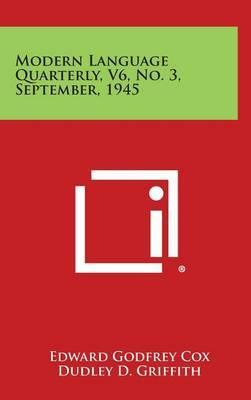 Modern Language Quarterly, V6, No. 3, September, 1945