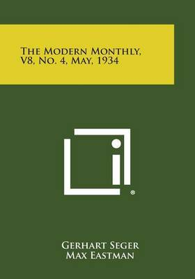 The Modern Monthly, V8, No. 4, May, 1934