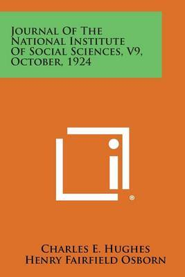 Journal of the National Institute of Social Sciences, V9, October, 1924