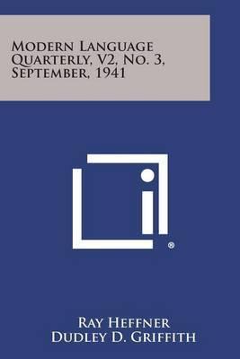 Modern Language Quarterly, V2, No. 3, September, 1941
