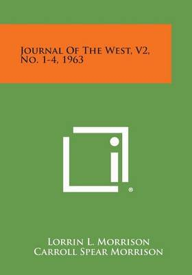 Journal of the West, V2, No. 1-4, 1963