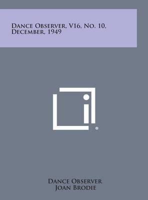 Dance Observer, V16, No. 10, December, 1949
