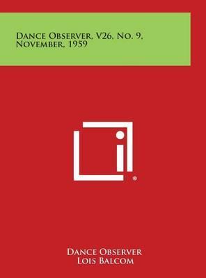 Dance Observer, V26, No. 9, November, 1959
