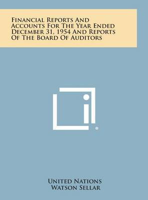 Financial Reports and Accounts for the Year Ended December 31, 1954 and Reports of the Board of Auditors